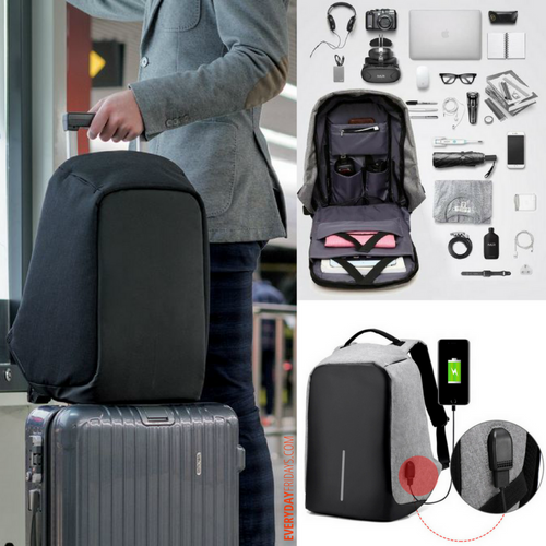 TripTech™ Anti-Theft Backpack with USB Connector