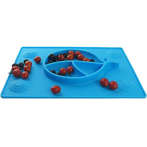 KiddyByte™ Children Silicone Placemat With Suction Cups