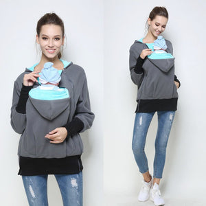 Mom Baby Carrying Hoodie