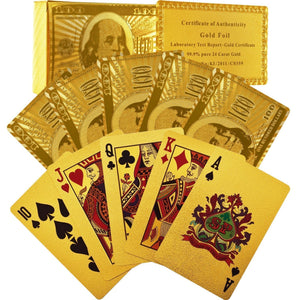 24k Gold Foil Playing Cards  with Certificate