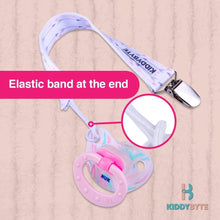 KiddyByte™ Baby Pacifier Clip for Girl