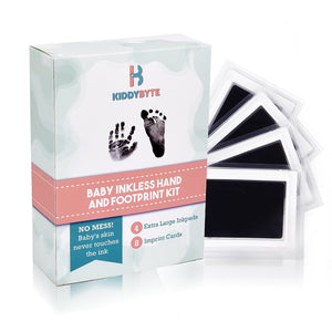 KiddyByte™ Baby Inkless Footprint & Handprint Kit