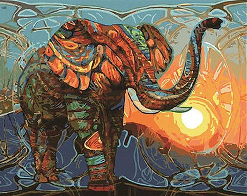 Abstract Tribal Elephant - PicArtSo™ Paint-by-Number Kit