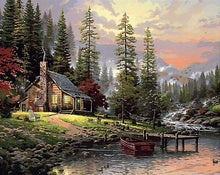 Alpine Log House - PicArtSo™ Paint-by-Number Kit