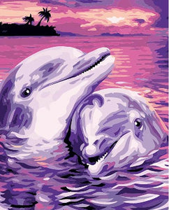 Dolphin Lovers - PicArtSo™ Paint-by-Number Kit