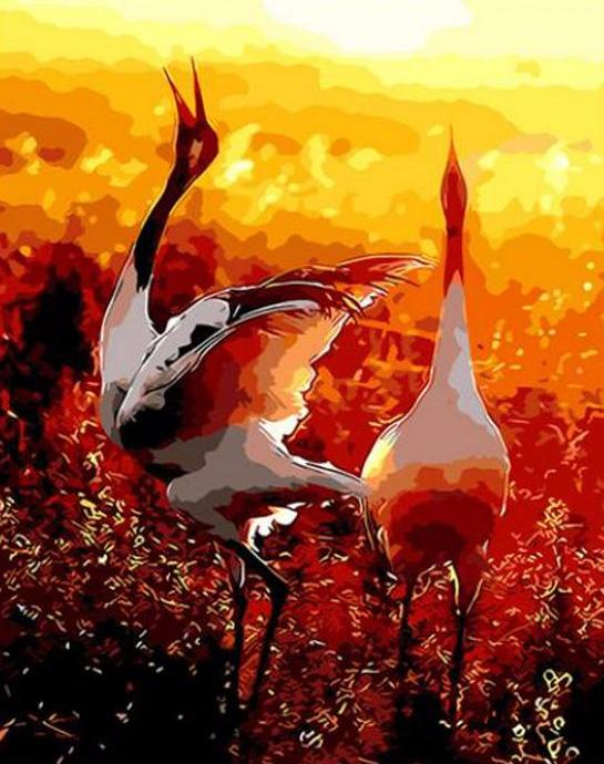 Crowned Cranes - PicArtSo™ Paint-by-Number Kit