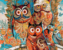 Vintage Abstract Owl - PicArtSo™ Paint-by-Number Kit