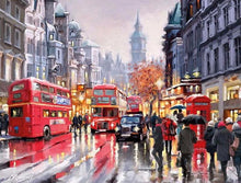 London Red Buses - PicArtSo™ Paint-by-Number Kit