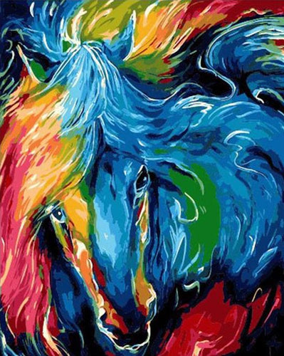 Abstract Colorful Horse - PicArtSo™ Paint-by-Number Kit