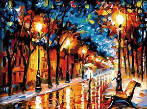 Vivid Walk In The Rain - PicArtSo™ Paint-by-Number Kit