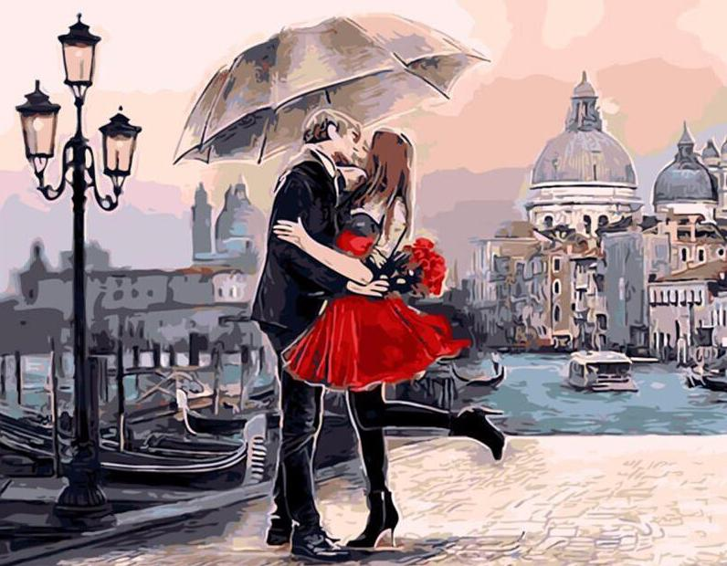 Lovers by Venice Grand Canal - PicArtSo™ Paint-by-Number Kit