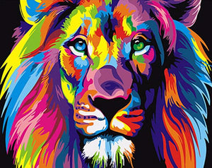 Colorful Abstract Lion - PicArtSo™ Paint-by-Number Kit