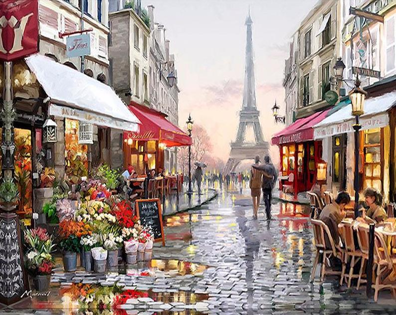 Parisian Street - PicArtSo™ Paint-by-Number Kit