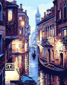 Venice Night Landscape - PicArtSo™ Paint-by-Number Kit