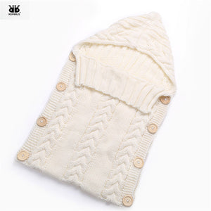 Knitted Swaddle Bag For Babies
