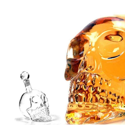 Crystal Skull Decanter - Perfect For Liquor Or Wine