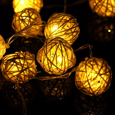 Rattan Ball LED Lights (2m, 20pcs)