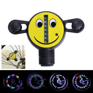 Happy Face LED Bicycle Spoke Lights - 30 Patterns