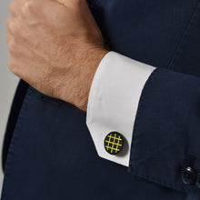Circle & Square Yellow Cufflinks