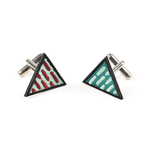 Triangle Green Cufflinks