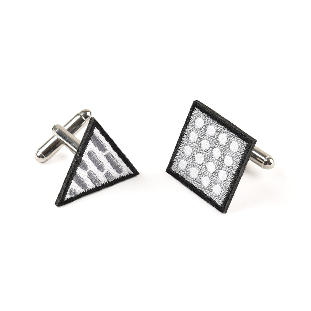 Square & Triangle Grey Cufflinks