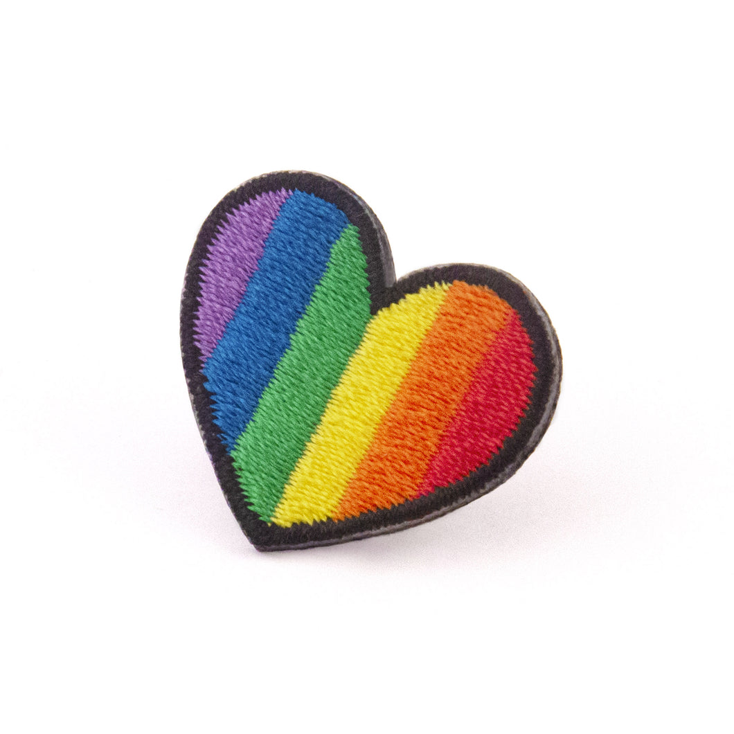 Rainbow Heartbeat Pin