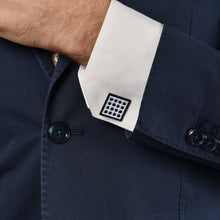 Circle & Square Blue Cufflinks
