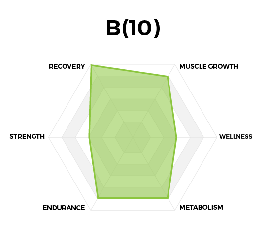 B(10) BCAA (Branch Chain Amino Acids) Performance Graph by High Performance Nutrition, a Wellness Company