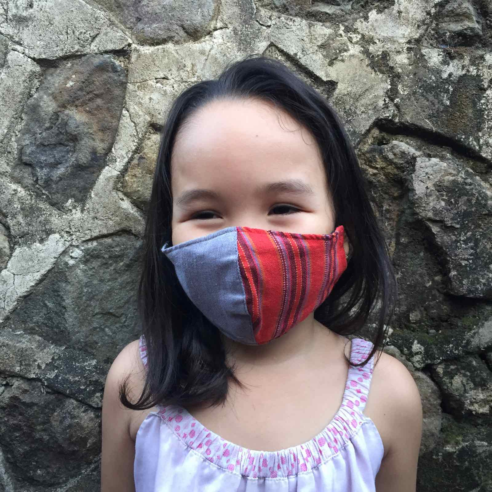 Zero Waste Kids Colour Block Face Mask