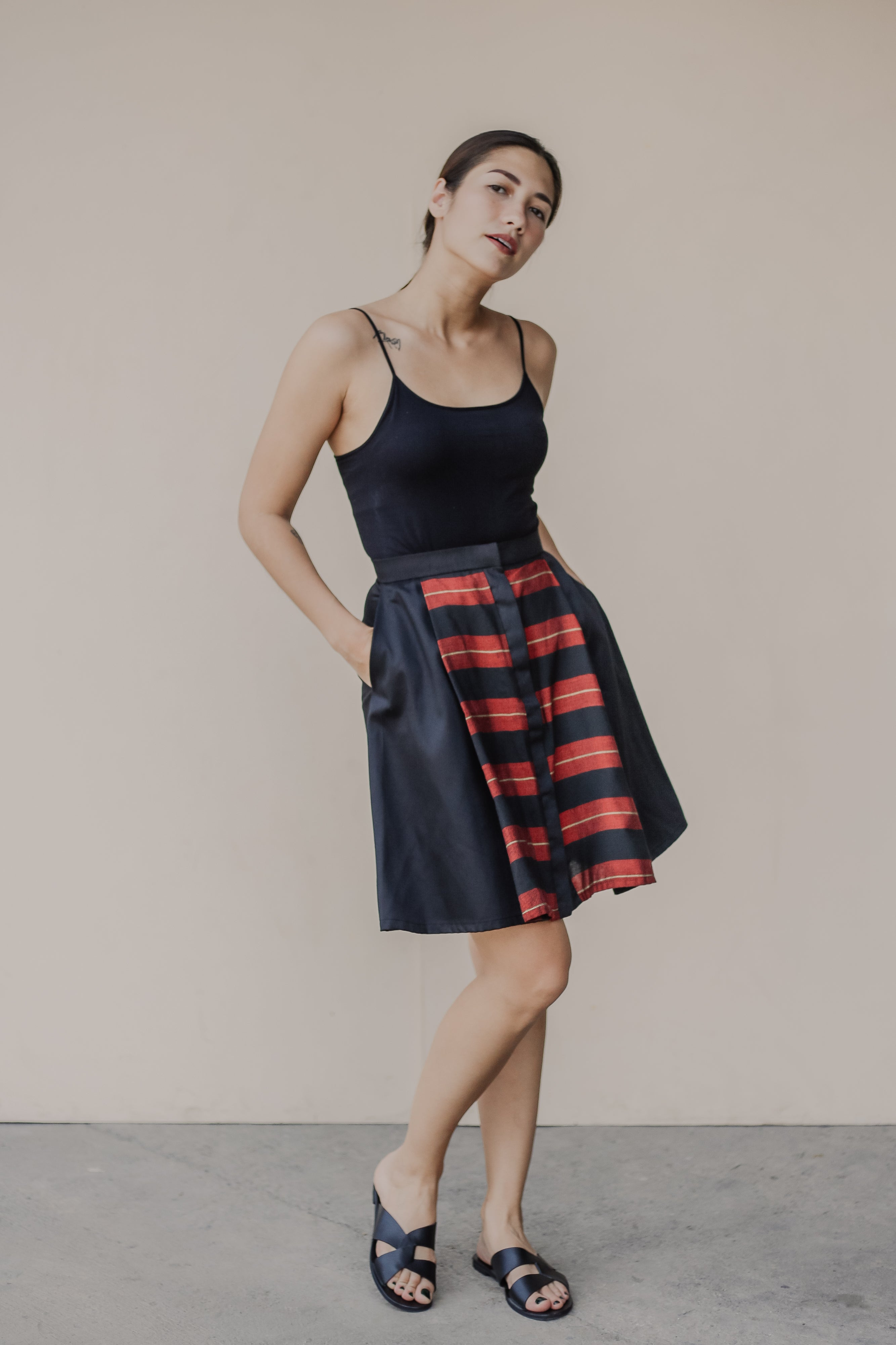 Reweave Blue and Red Nieves Skirt