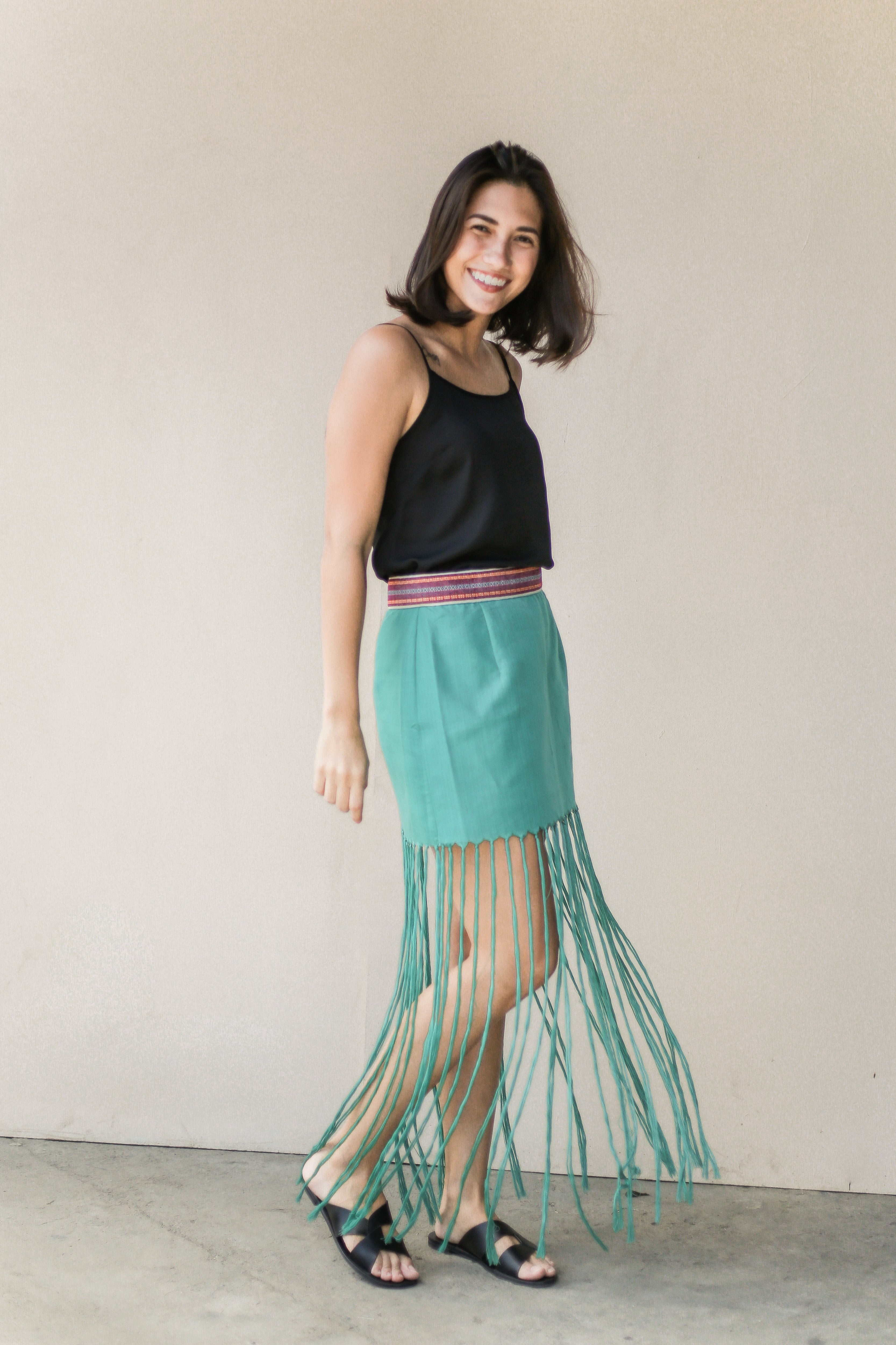 Reweave Tassled Skirt