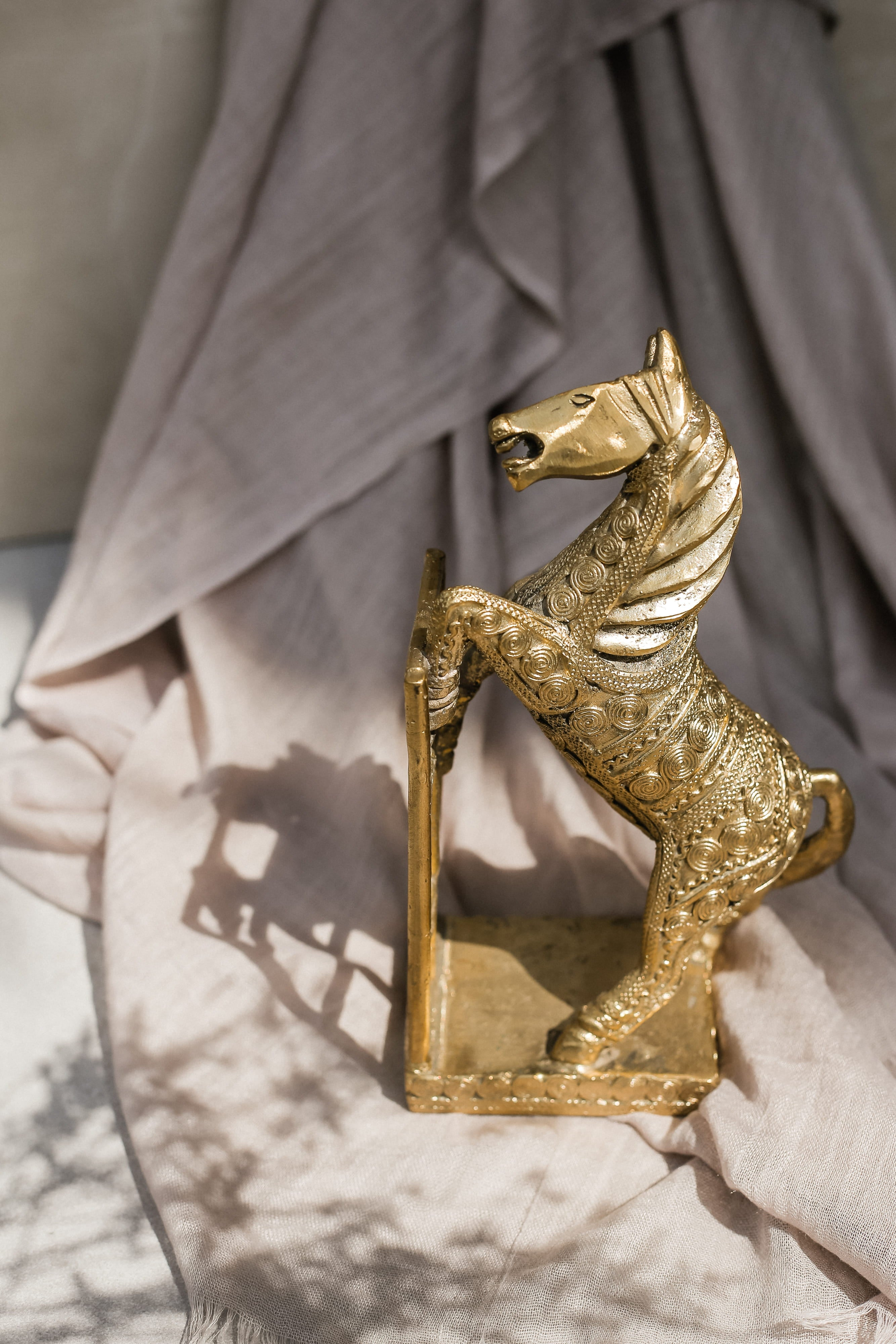 Brass Bookends - Horse