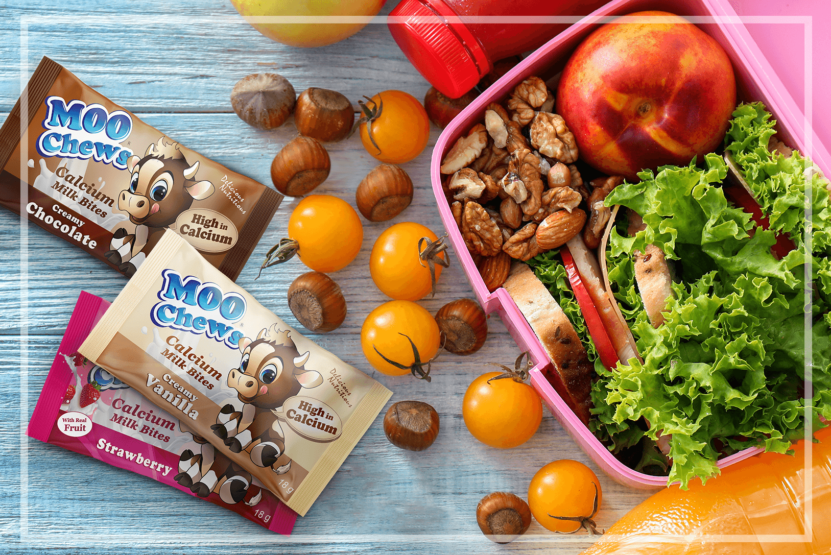 Moo Chews give your kids a healthy energy boost without all that highly refined sugar. Available in 3 yummy flavours: Chocolate, Strawberry, and Vanilla. Available in select Pak 'n Save and New World stores.