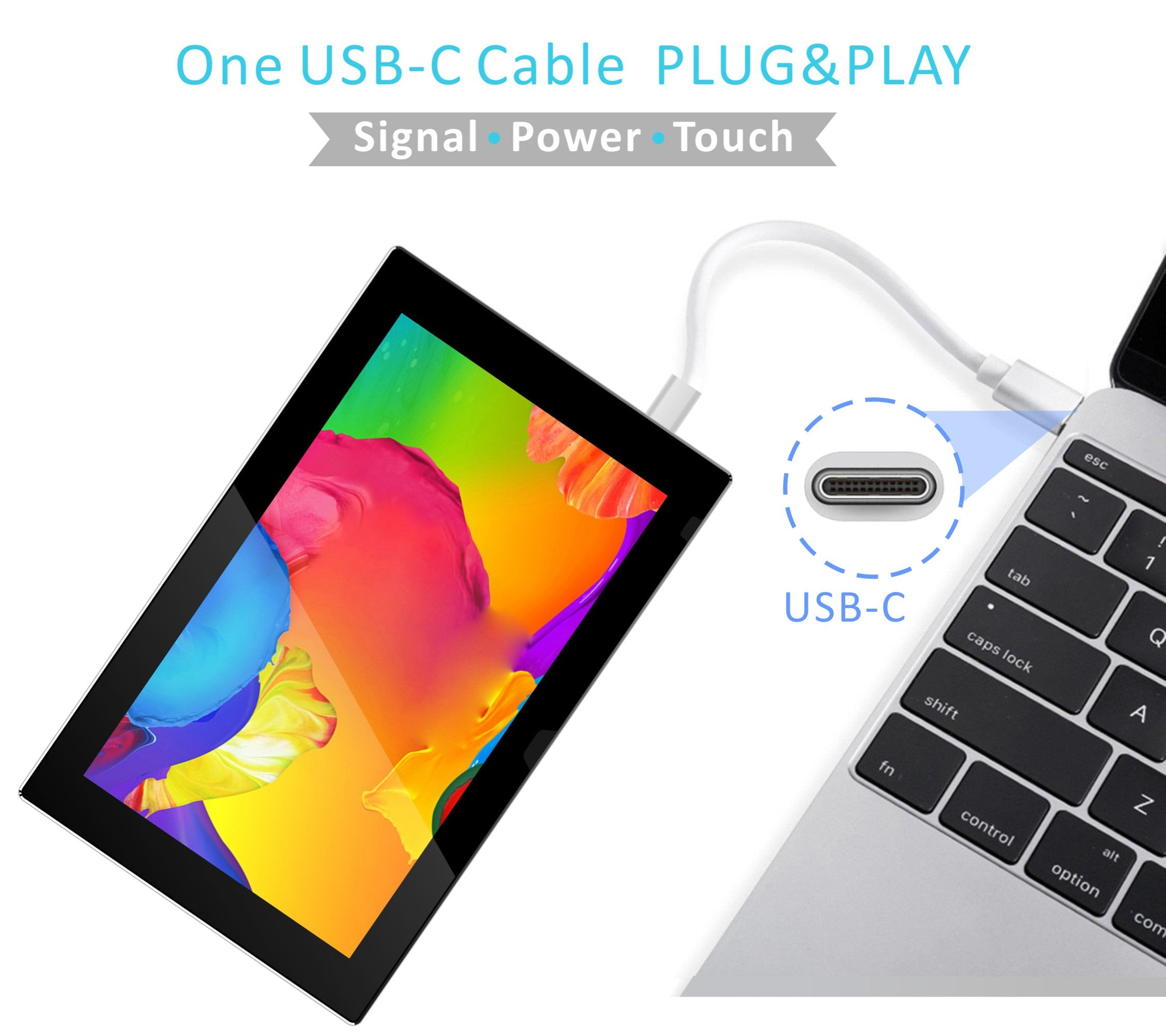 11 6 inch 1080P FHD USB-C Capacitive Touch Portable Monitor(T116C)