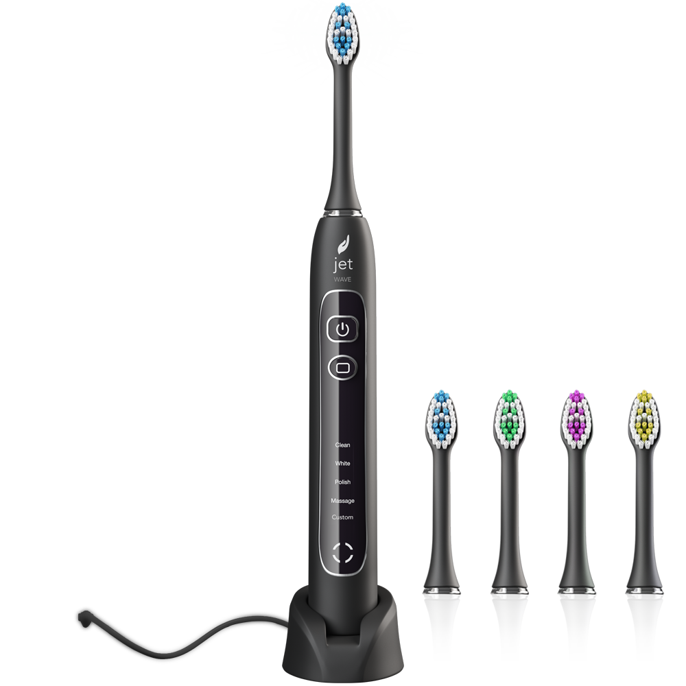 JetWave Rechargeable Sonic Toothbrush - Black