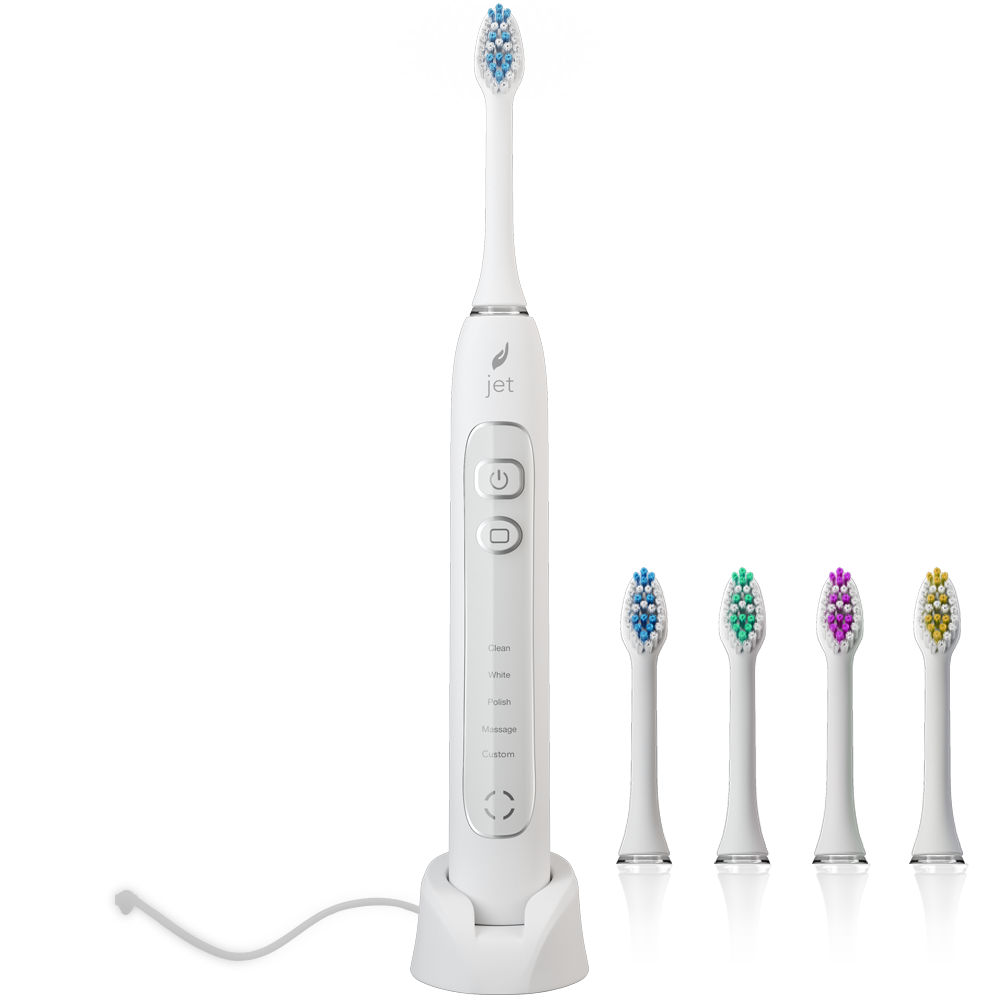 JetWave Rechargeable Sonic Toothbrush - White