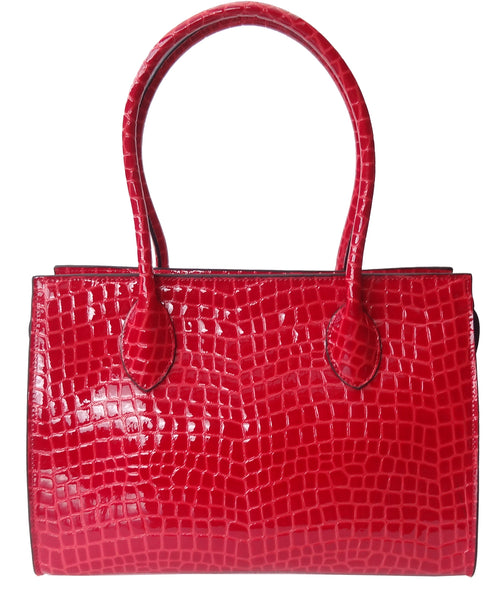 'BOSTON' patent leather bag