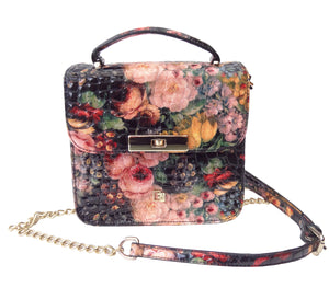 'FLORAL' small shoulder bag