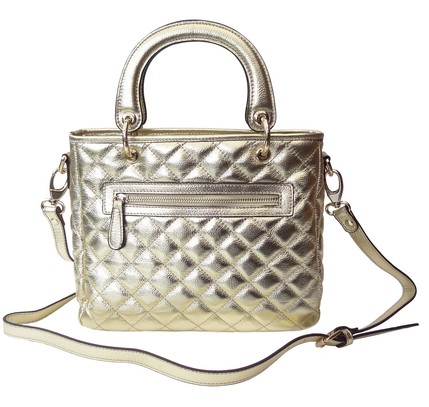 'PARIS' quilted leather bag