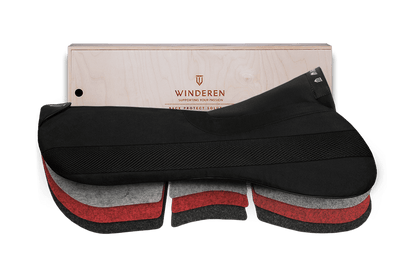Winderen saddle half pad Jumping Correction system Slim Coal 17""