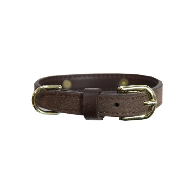 Dog Collar Velvet Leather