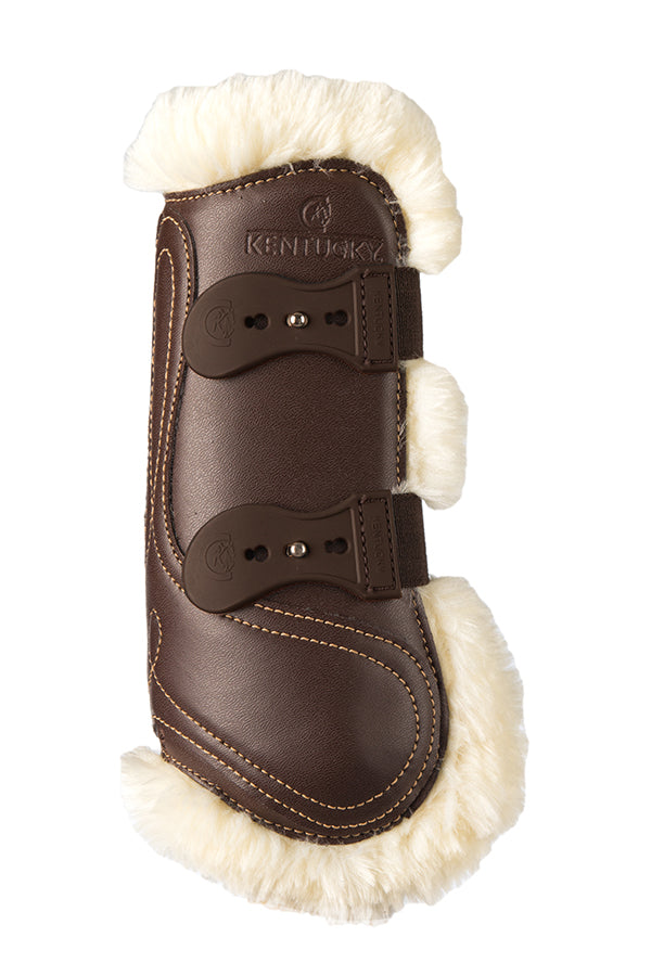 Sheepskin Leather Tendon Boots - Elastic
