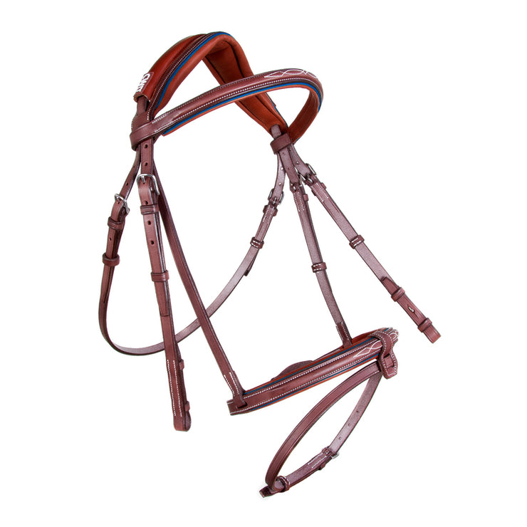 CWD MADEMOISELLE ANATOMIC FRENCH NOSEBAND BRIDLE WITH STITCHING