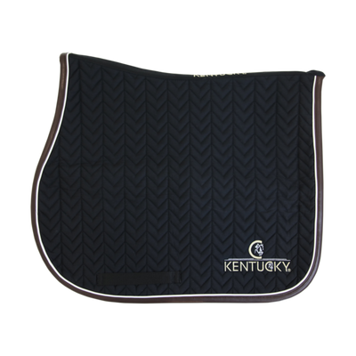 SADDLE PAD LEATHER FISHBONE