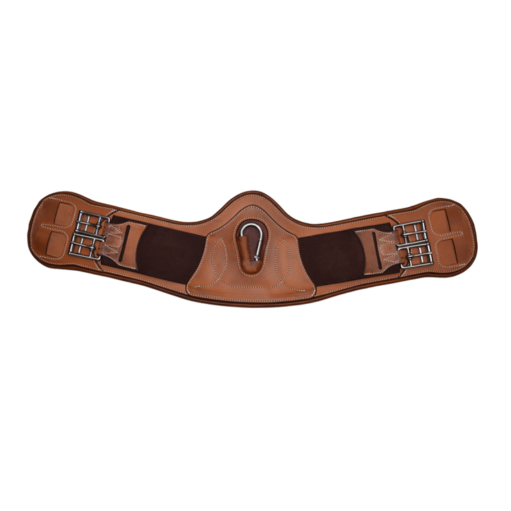 Curved comfort dressage girth