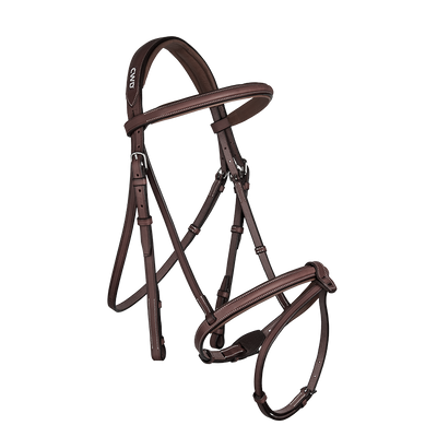 CWD RAISED FRENCH NOSEBAND BRIDLE
