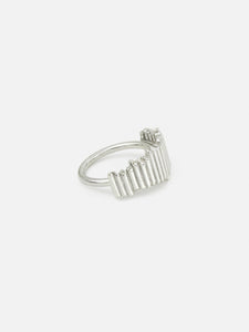 Parallel ring, silver