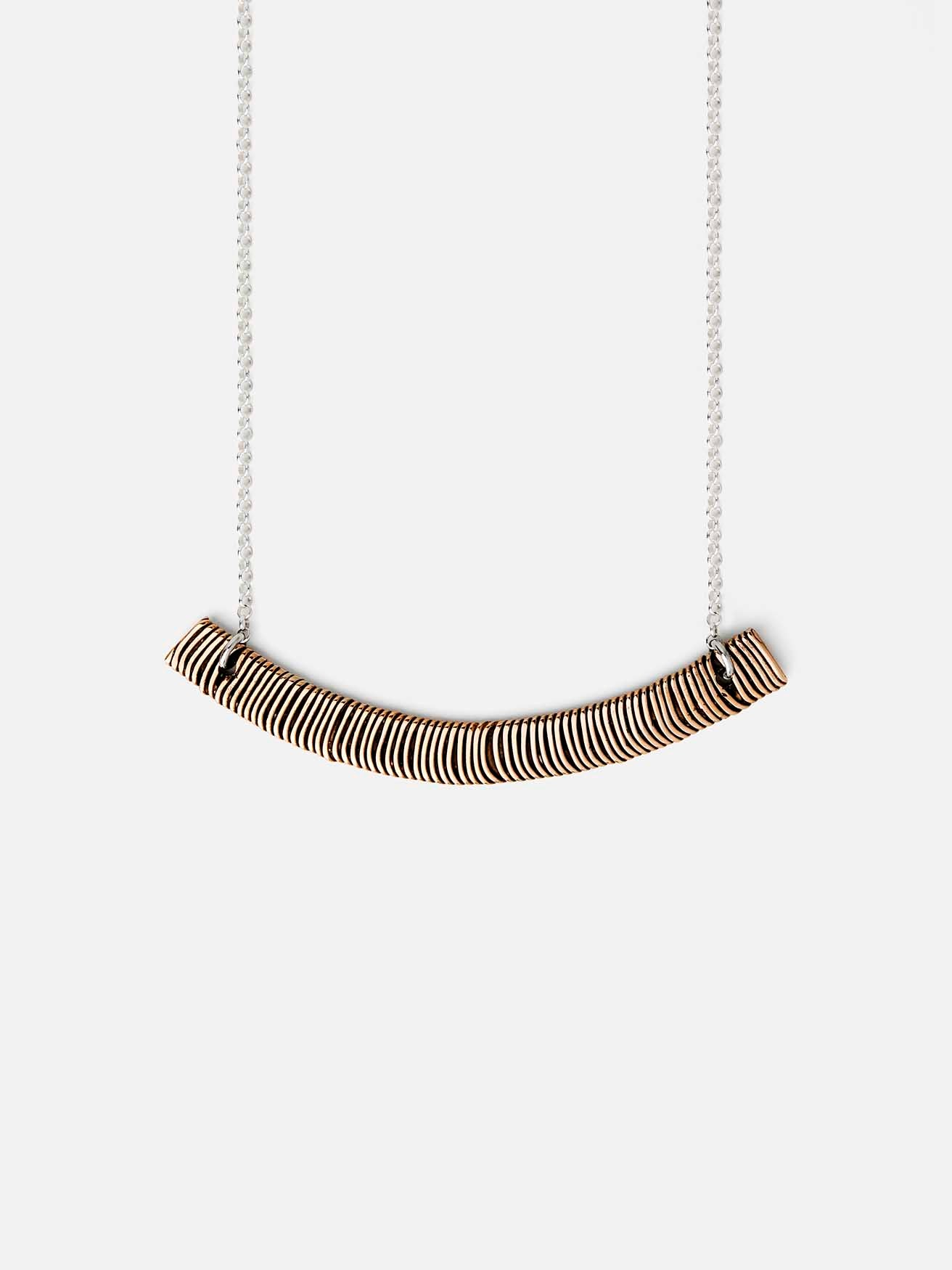 Arc Necklace, bronze