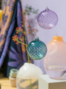 Glass Ornaments, Light Rose
