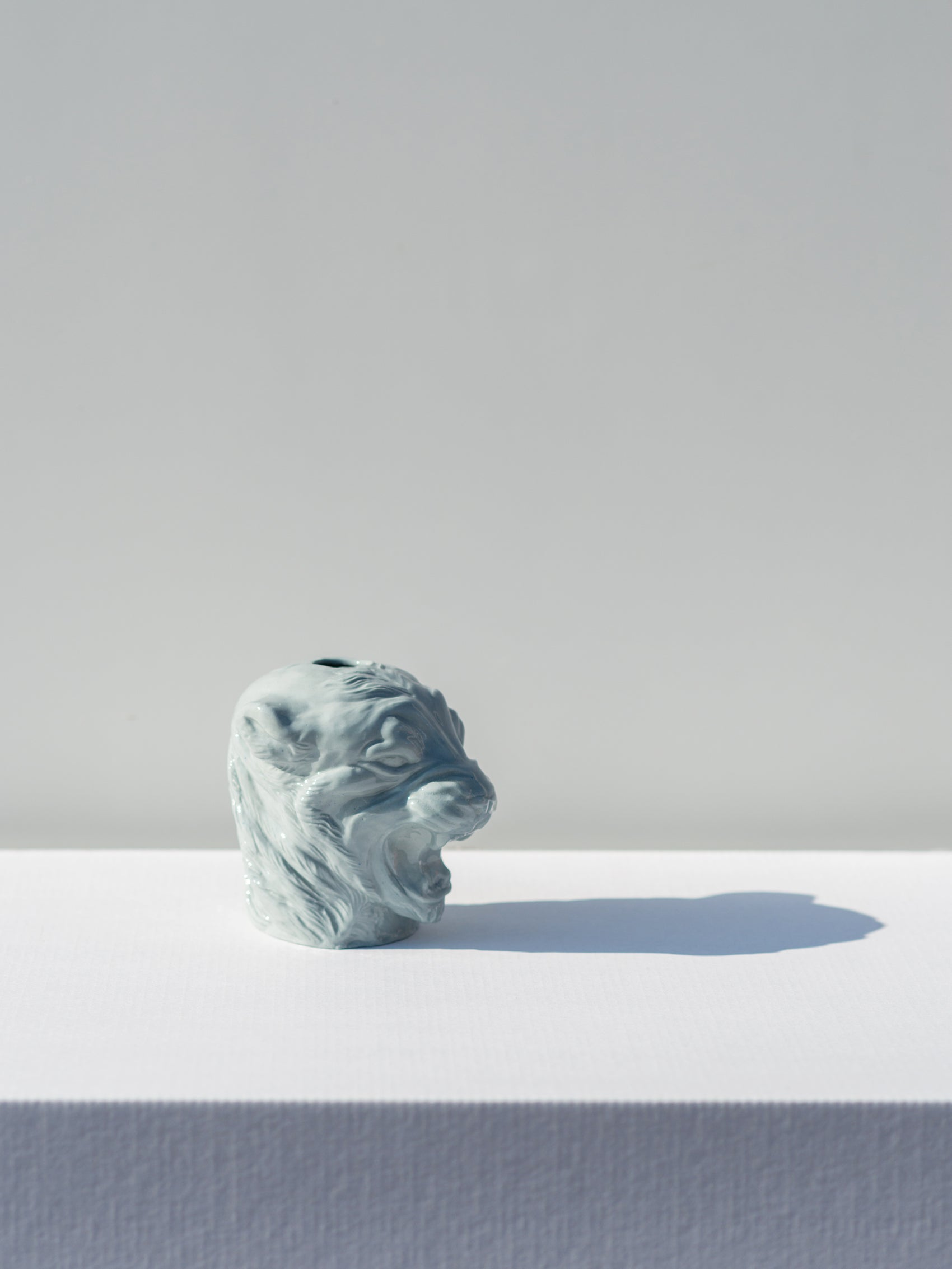 Ceramic heads, Lioness Light Grey